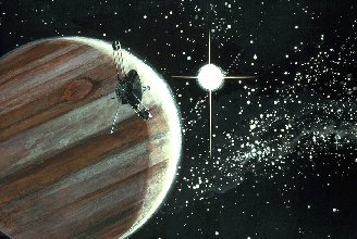 Artist's impression of Pioneer's Jovian fly-by