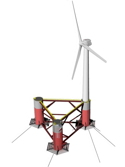 Floating wind turbines could use stronger offshore winds